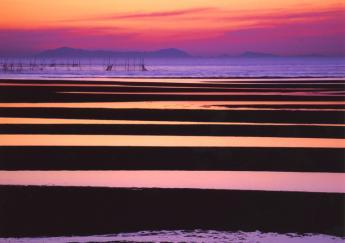 마다마 해안의 석양