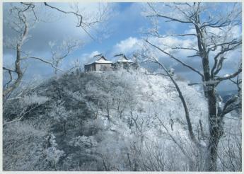 수빙이 아름다운 겨울의 히코산